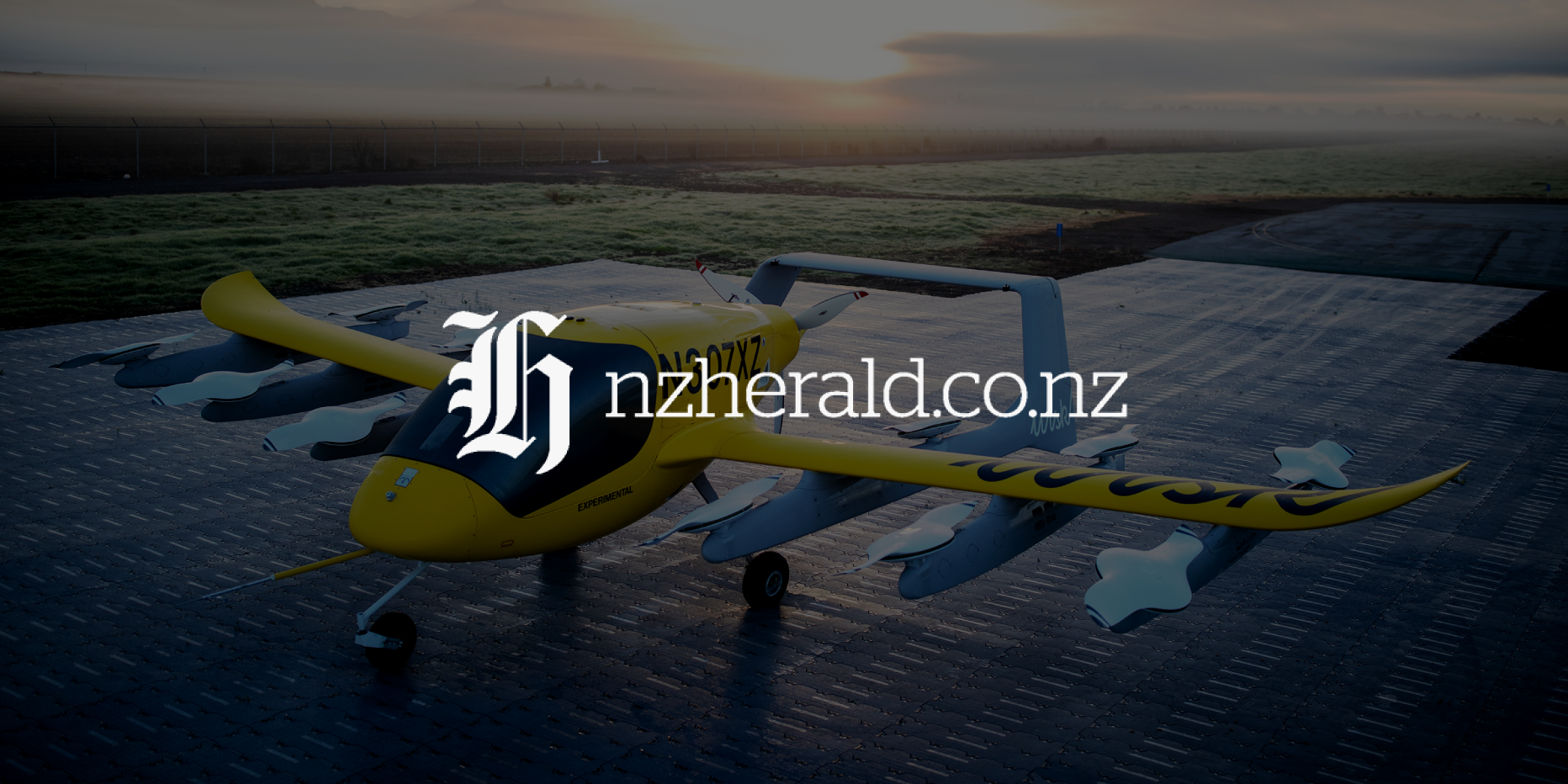 Wisk's self-flying electric air taxi on display in Christchurch for first time
